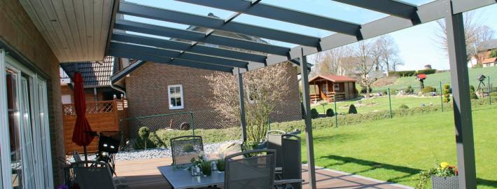 Terrassendächer aus Alu und Gals
