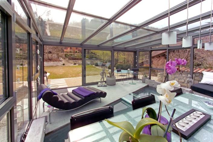 Wintergarten, Alu, Glas